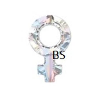 18x11.5mm Swarovski 4876 Crystal AB Female Symbol Crystal Stone
