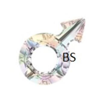 18x11.5mm Swarovski 4878 Crystal AB Male Symbol Crystal Stone