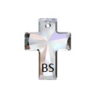 40x30mm Swarovski 6864 Crystal ABV Cross Pendant