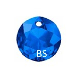 10mm Swarovski 6430 Sapphire Classic Cut Crystal Pendant