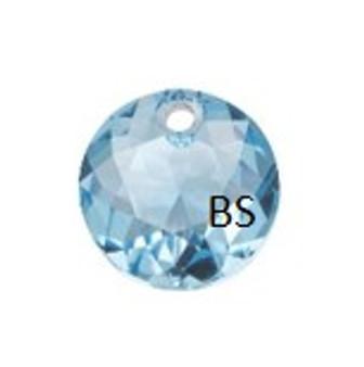 10mm Swarovski 6430 Aquamarine Classic Cut Crystal Pendant
