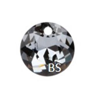 10mm Swarovski 6430 Silvernight Classic Cut Crystal Pendant