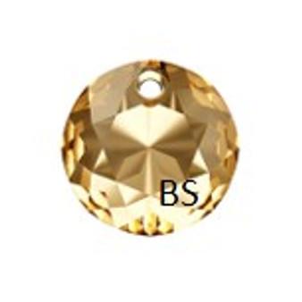 10mm Swarovski 6430 Crystal Golden Shadow Classic Cut Crystal Pendant