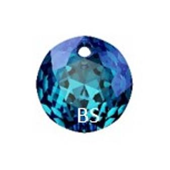 10mm Swarovski 6430 Bermuda Blue Classic Cut Crystal Pendant