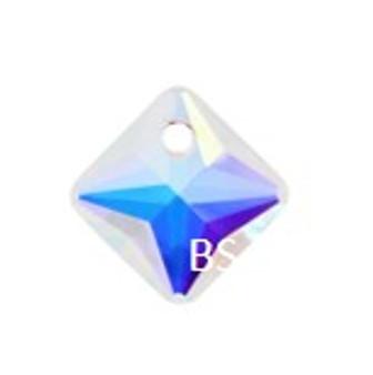 11.5mm Swarovski 6431 Crystal AB Princess Cut Crystal Pendant