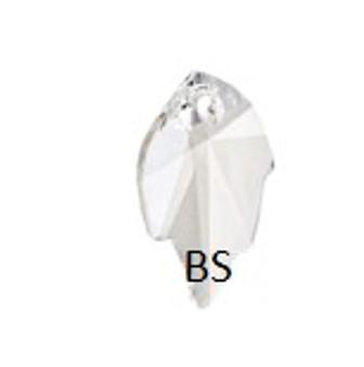 26x16mm Swarovski 6735 Crystal Leaf Pendant