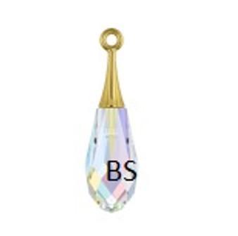 21mm Swarovski 6532 Crystal AB (Gold) Pure Drop Pendant