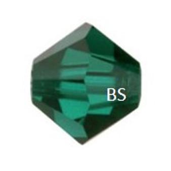3mm Swarovski 5328 Emerald Bicone Bead