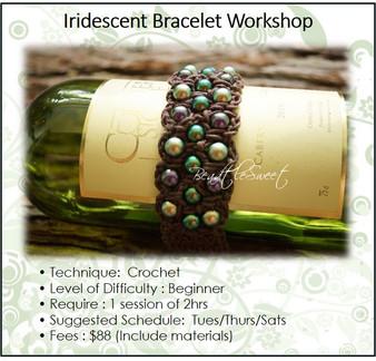 Jewellery Making Course : Iridescent Bracelet Workshop