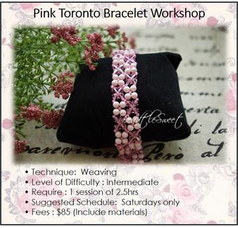 Jewellery Making Course : Pink Toronto Bracelet Workshop