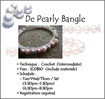 Jewelry Making Course: De Pearly Bangle Workshop