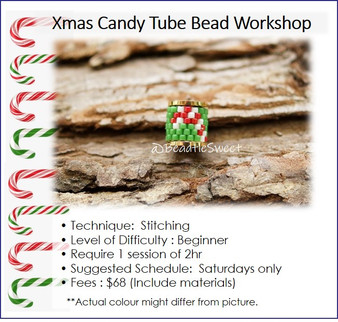 Jewellery Making Course : Xmas Candy Tube Bead Workshop