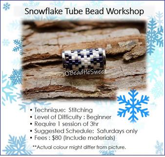 Jewellery Making Course : Snowflake Tube Bead Workshop