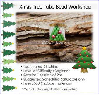 Jewellery Making Course : Xmas Tree Tube Bead Workshop