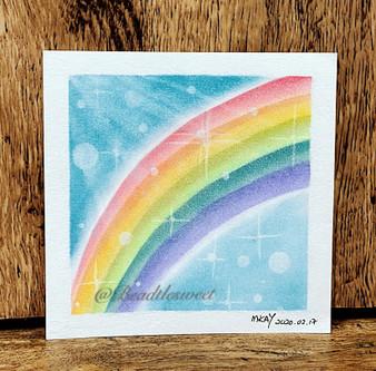 Nagomi Pastel Art : Ride on the Rainbow