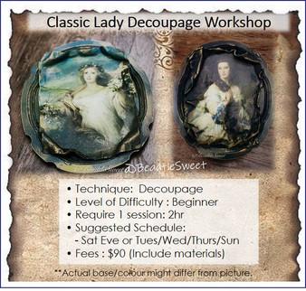 Decoupage Course : Classic Lady Decoupage Workshop