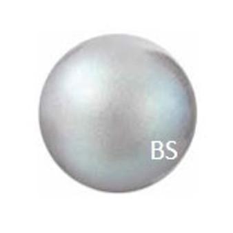 8mm Preciosa Round Pearl Maxima Pearlescent Grey Pearls