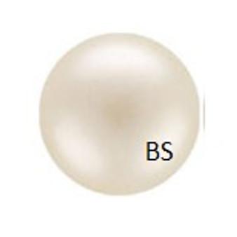 6mm Preciosa Round Pearl Maxima Pearlescent Cream Pearls