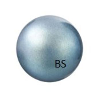 8mm Preciosa Round Pearl Maxima Pearlescent Blue Pearls
