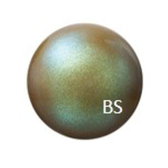 8mm Preciosa Round Pearl Maxima Pearlescent Khaki Pearls
