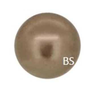 8mm Preciosa Round Pearl Maxima Bronze Pearls
