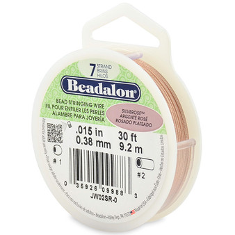 Beadalon 7 Strand 0.25mm Silver Rose