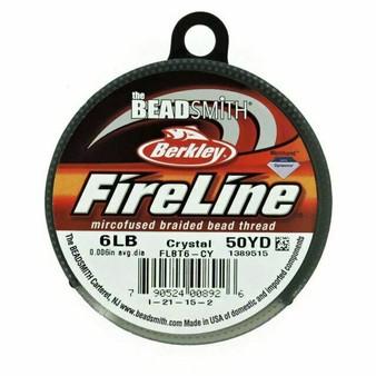 Beadsmith Fireline Braided Bead Thread 6LB Crystal