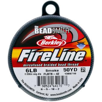 Beadsmith Fireline Braided Bead Thread 6LB Smoke Grey
