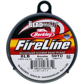 Beadsmith Fireline Braided Bead Thread 8LB Smoke Grey