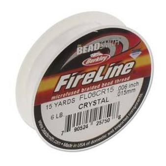 Beadsmith Fireline Braided Bead Thread 6LB Crystal 15 Yard