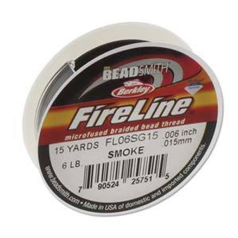 Beadsmith Fireline Braided Bead Thread 6LB Smoke Grey 15 Yard