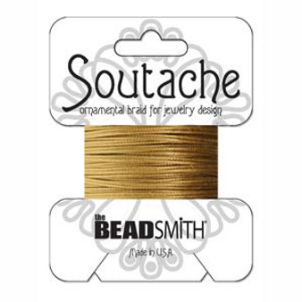Soutache Rayon Braided Cord (Antique Gold)