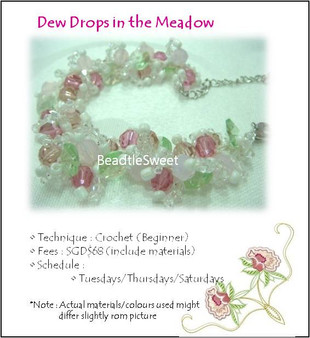 Jewelry Making Course: Dew Drops in the Meadow Bracelet Workshop