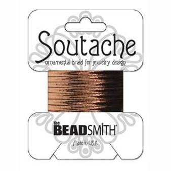Soutache Rayon Braided Cord (Bronze Metallic)