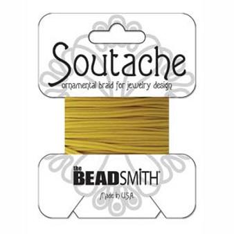 Soutache Rayon Braided Cord (Cadmium Yellow)