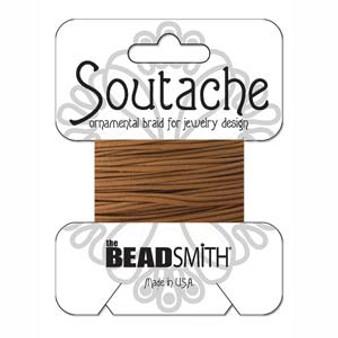 Soutache Rayon Braided Cord (Light Brown)