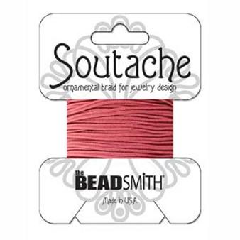Soutache Rayon Braided Cord (Rose)