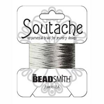 Soutache Rayon Braided Cord (Silver Metallic)