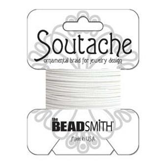 Soutache Rayon Braided Cord (Snow White)