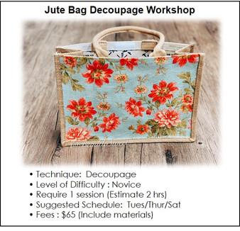 Decoupage Course : Jute Bag Decoupage Workshop