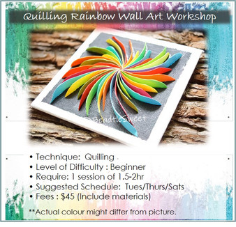 Quilling Course: Rainbow Wall Art Workshop