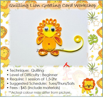 Quilling Course: Lion Greeting Card Workshop