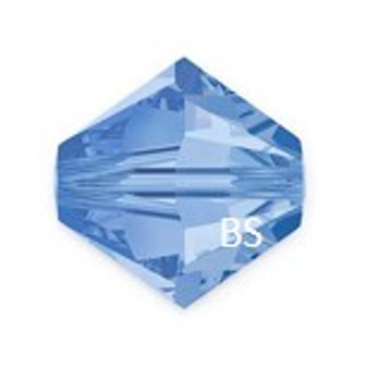 4mm Preciosa MC Rondelle Bead Light Sapphire 451 69 302