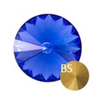 8mm Preciosa 436 11 177  MC Rivoli Sapphire (ss39)