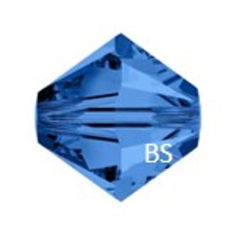 4mm Preciosa MC Rondelle Bead Capri Blue 451 69 302