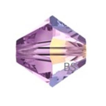 4mm Preciosa MC Rondelle Bead Light Amethyst AB 451 69 302