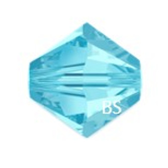 4mm Preciosa MC Rondelle Bead Aqua Bohemica 451 69 302