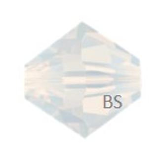 4mm Preciosa MC Rondelle Bead White Opal 451 69 302