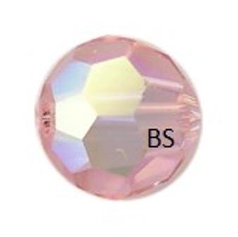 Preciosa MC Round Bead Light Rose AB
