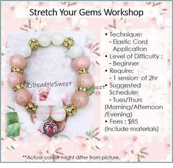 Jewellery Making Course : Stretch Your Gems Bracelet Workshop